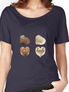 Chocolate Hearts  Women's Relaxed Fit T-Shirt