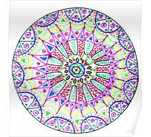Pattern in a circle, mandala, fantasy. Poster