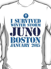 Excellent 'I survived Winter Storm Juno Boston January 2015' T-shirts, Hoodies, Accessories and Gifts T-Shirt