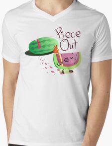 Piece Out Mens V-Neck T-Shirt