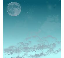 Clouds and moon Photographic Print