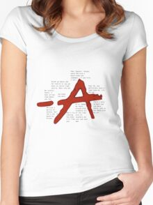 pretty little liars A qoutes   Women's Fitted Scoop T-Shirt