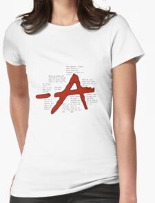 pretty little liars A qoutes   Womens Fitted T-Shirt