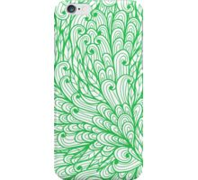Green hand drawn doodle pattern iPhone Case/Skin