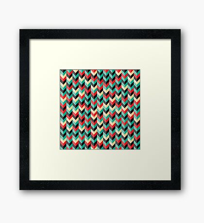 Chevron Wallpaper Framed Print