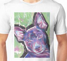 Rat Terrier Dog Bright colorful pop dog art Unisex T-Shirt