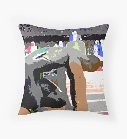 On Your Mark! Throw Pillow
