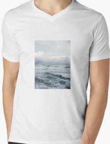 Misty Ocean Mens V-Neck T-Shirt