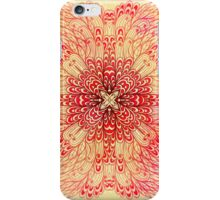 Hand drawn ethnic square pink ornament iPhone Case/Skin