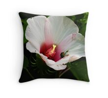 japanese beetle on a holly hock Throw Pillow