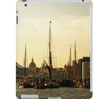 Boats on Thames River at Sunset, London iPad Case/Skin