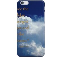Coming In The Clouds iPhone Case/Skin
