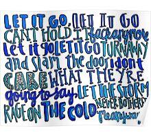 Let it Go Lyrics Poster