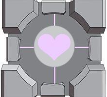 Companion cube by AnnabelStar
