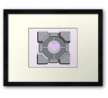 Companion cube Framed Print