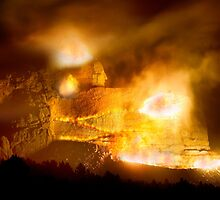 Night Blast at Crazy Horse Memorial by Alex Preiss