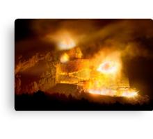 Night Blast at Crazy Horse Memorial Canvas Print