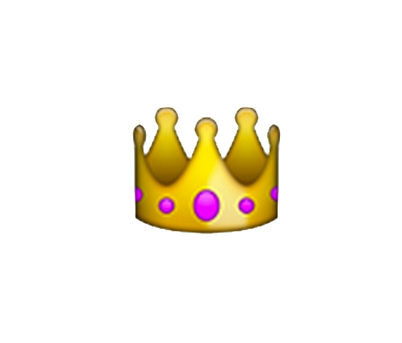 Crown emoji transparent crown emoji by sadgurl00