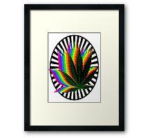 Rainbow Weed Framed Print