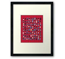 Robotz - Sapphire Rose Framed Print