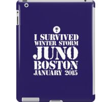 Excellent 'I survived Winter Storm Juno Boston January 2015' T-shirts, Hoodies, Accessories and Gifts iPad Case/Skin