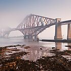 Forth Bridge & Morning Mist by David Queenan