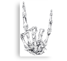 Skull Skeleton Hand // Rock and Roll // Canvas Print