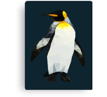 Polygon King Penguin Canvas Print