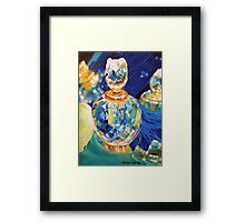 Perfume bottles and Silk shawls Framed Print