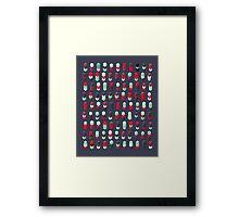 Robotz - Neons Framed Print