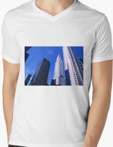 NYC Chrysler Building Mens V-Neck T-Shirt