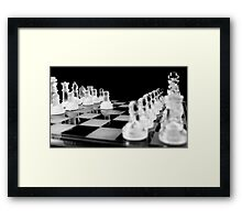 make the first move Framed Print