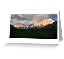 Swiss impression with mountains Greeting Card