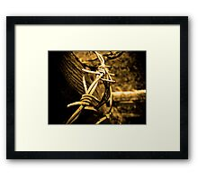 Keep Away Framed Print