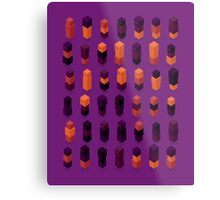 Robotz - Gold & Purple Metal Print