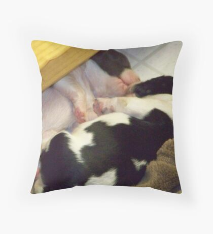 Cuddling Pups Throw Pillow
