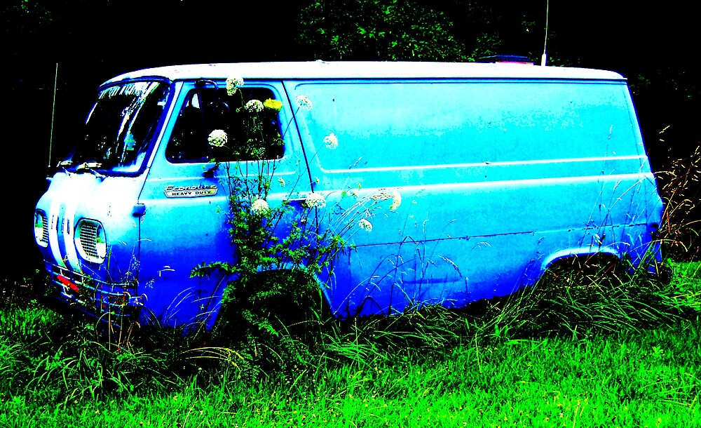 Blue Van by Harlan Mayor