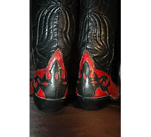 Red and Black Boots Photographic Print