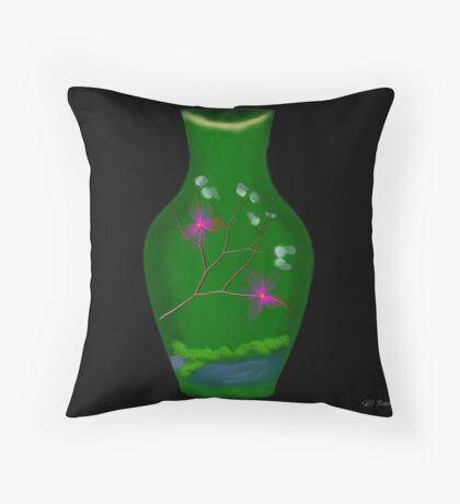 Japanese Vase Throw Pillow