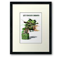 The Cane Toad Fights back Framed Print