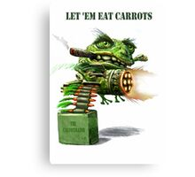 The Cane Toad Fights back Canvas Print
