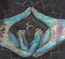 Vishuddha - throat chakra mudra  by Tilly Campbell-Allen