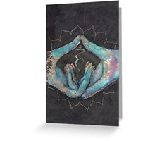 Vishuddha - throat chakra mudra  Greeting Card