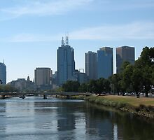 Melbourne Over The Yarra River by haymelter