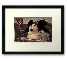 Mickey Mouse and Hitler world domination Framed Print