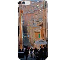 Sun & Silhouettes In Montepulciano iPhone Case/Skin