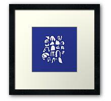 Practice Array - blue Framed Print