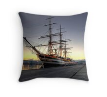 Sailing Ship in the Dawn   Throw Pillow