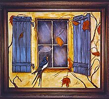 Bluebird In The Window by jansnow