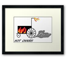 Hot chairs Flames Framed Print